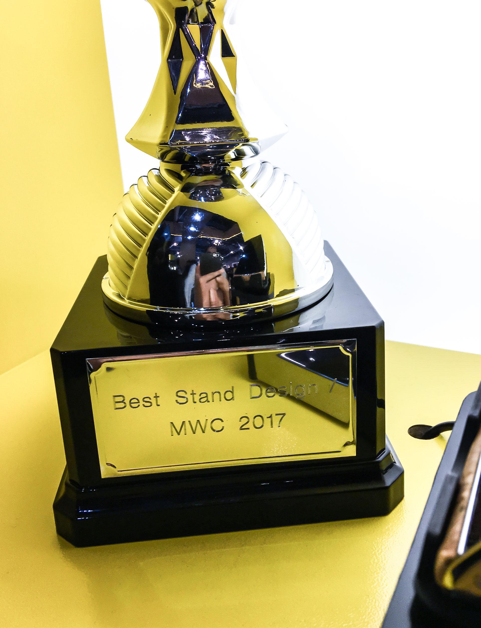 Prémio best stand design MWC 2017