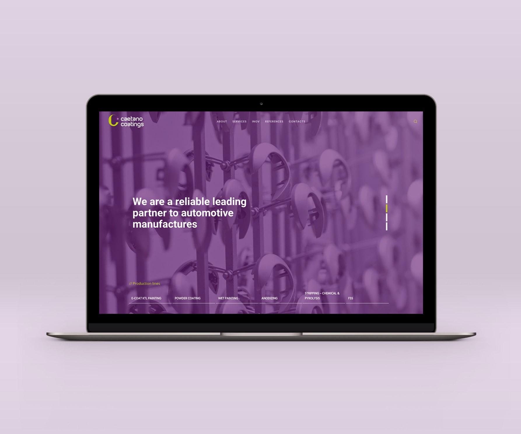 Web Design | Caetano Coatings